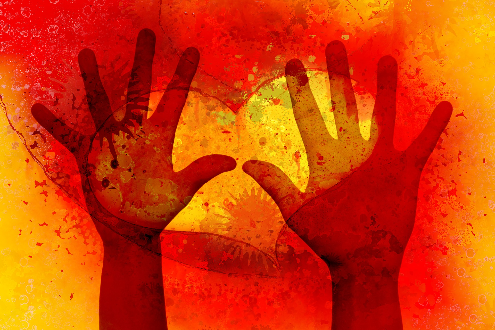 red helping hands